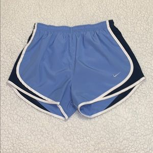 Baby blue and navy Nike shorts